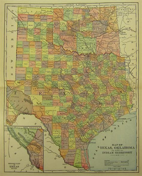 map of oklahoma and texas 17 best images about maps on genealogy cattle and vintage maps