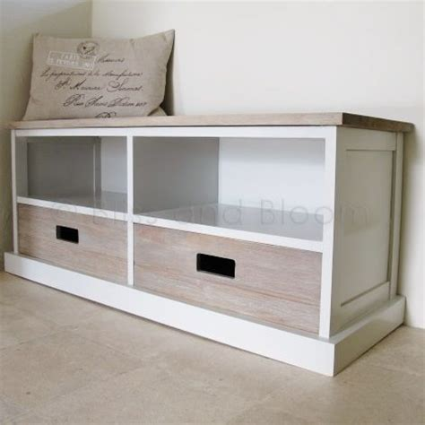 Drawer Storage Bench by 2 Drawer Storage Unit Bench Seat Bliss And Bloom Ltd