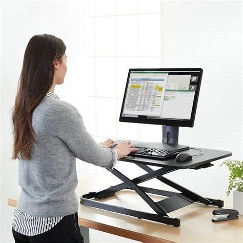 convert existing desk to standing desk turn your existing desk into a standing one with this 141