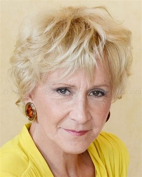 curly hair over 60s short hairstyles over 50 short wavy hairstyle for women