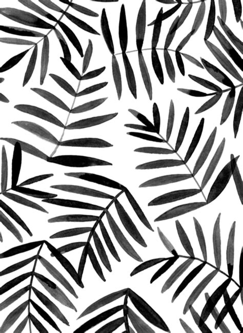 Black And White Pattern Pinterest | black leaves ink pattern pattern pinterest leaves