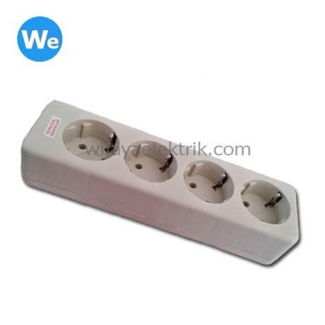 Stop Kontak Lubang 4 Broco stop kontak arde uticon 4 lubang tanpa kabel