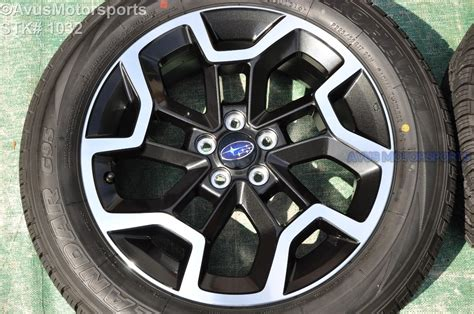 subaru factory wheels 2016 subaru crosstrek oem 17 quot factory wheels yokohama