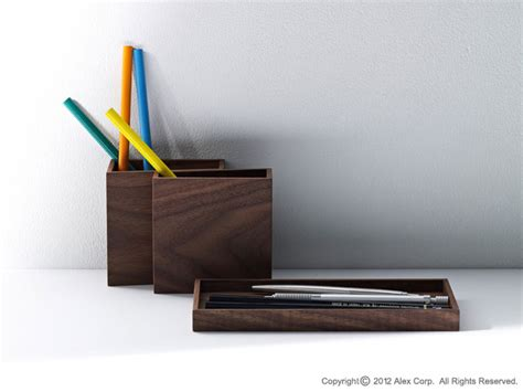 Japanese Desk Organizer by Hacoa Wooden Pen Stand Products Alexcious