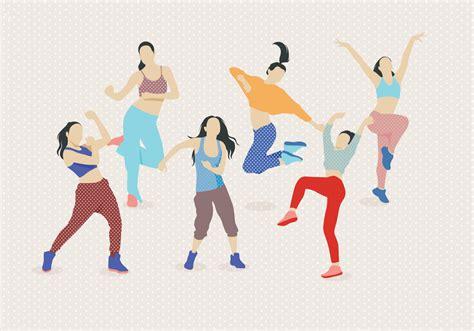 download tutorial zumba dance zumba dancing vector download free vector art stock