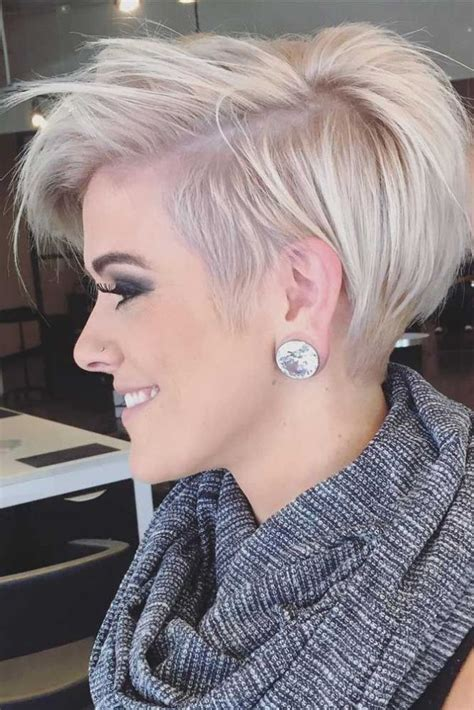 cool short over the ear haircut with long bangs nouvelle tendance coiffures pour femme 2017 2018 si