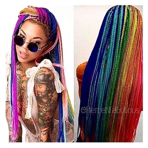 colorful box braids 10 epic colorful box braids to spice it up hairstylec