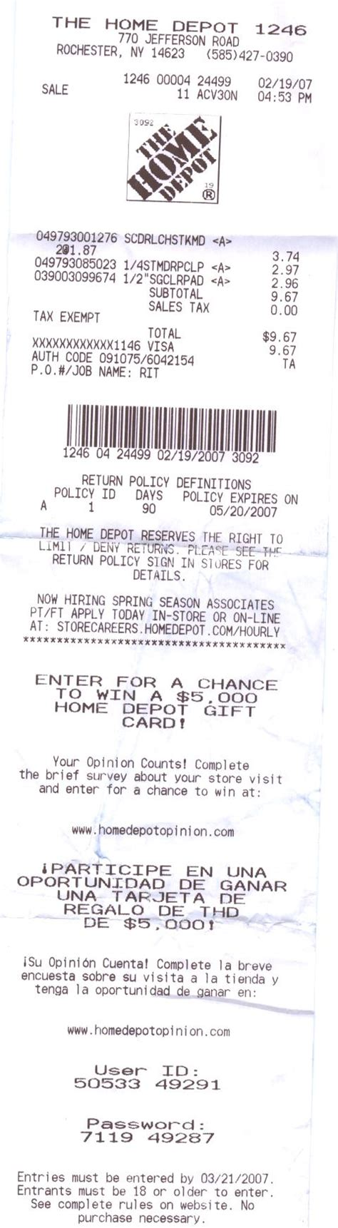 home depot receipt template home depot receipt template optional but homedepot
