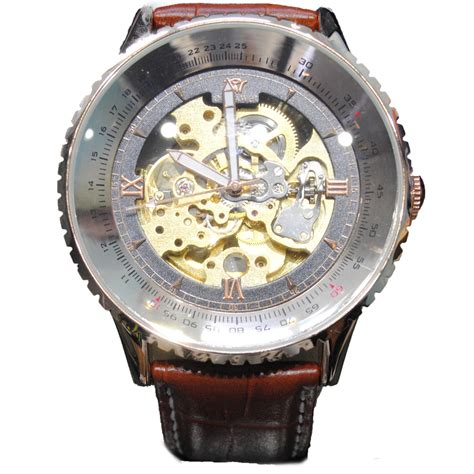 Ouyawei Skeleton Leather Automatic Mechanical Oyw1335 ouyawei skeleton leather automatic mechanical oyw1335 brown jakartanotebook