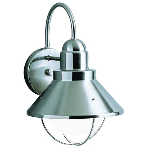 Kichler Outdoor Wall Sconce Kichler Lighting 9022ni Seaside Country Brushed Nickel Outdoor Wall Sconce