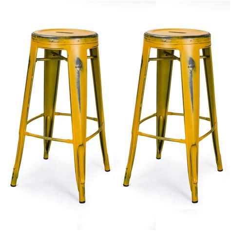 fashioned metal bar stools joveco 30 inch vintage inspired metal bar stools set of 2