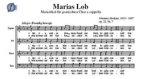 marias lob marienlied fuer gemischten chor  cappella op