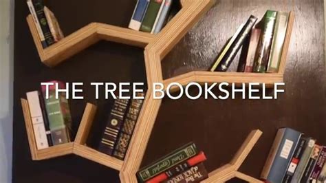 diy how to make a tree bookshelf