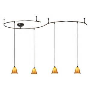 Rail Pendant Lighting W A C Monorail Track Light Kit 4 G592 Mini Pendants At Hayneedle