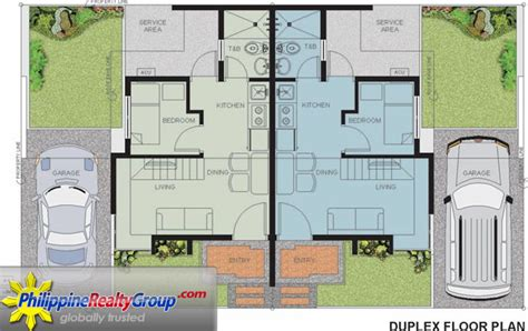 quadruplex house plans bellavita general trias cavite philippine realty group