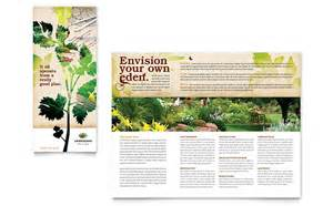 landscape design templates landscape design tri fold brochure template design