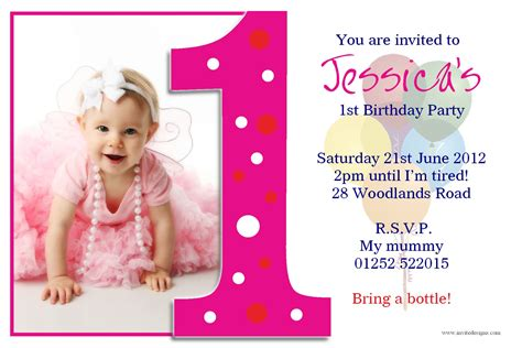 1st year birthday invitation cards free birthday birthday invitations card