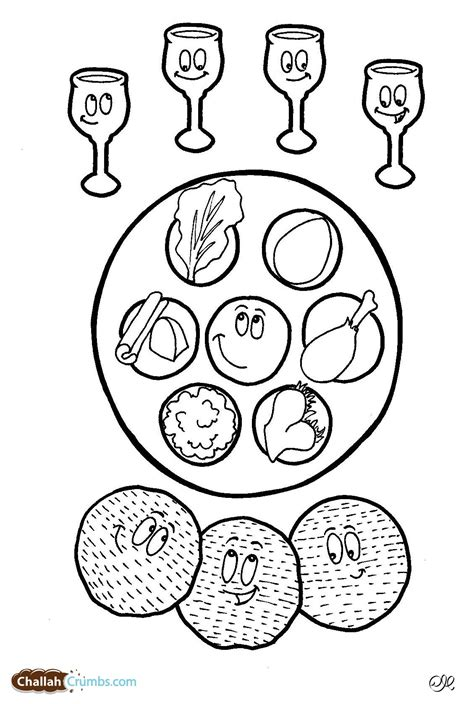 coloring pages passover print free passover meal coloring pages