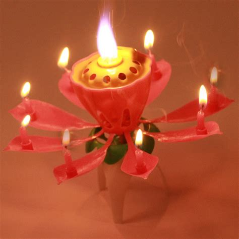 lotus flower birthday candle selling 2016 5pc lot candles blossom lotus flower