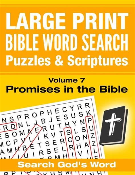 large print bible word search puzzles  scriptures volume  promises   bible search