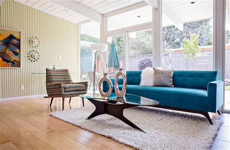 tips on choosing a bold accent color for your mid century