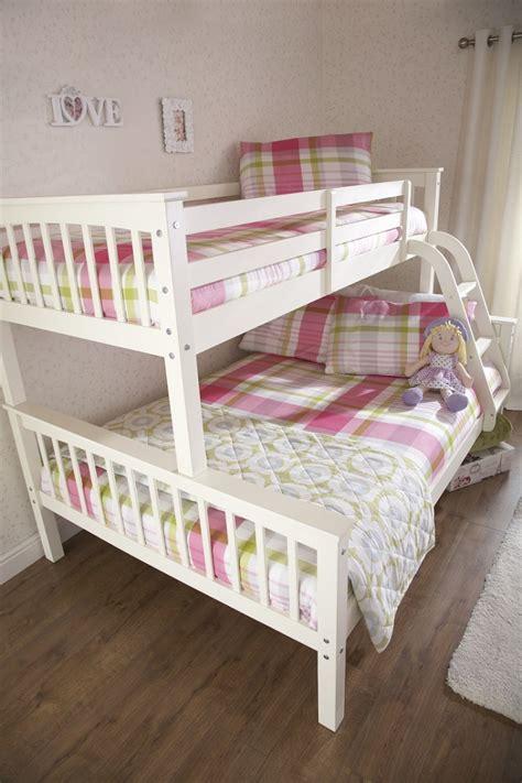 Sleeper Bunk Beds White by Gfw Novaro White Wooden Trio Sleeper Bunk Bed By Gfw