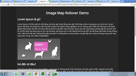 tutorial dreamweaver jquery mylớp edu vn image map rollover effect tutorial with