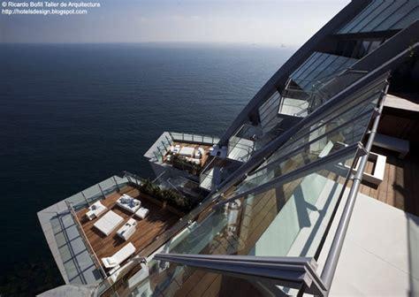 terrasse w barcelona les plus beaux hotels design du monde h 244 tel w barcelona