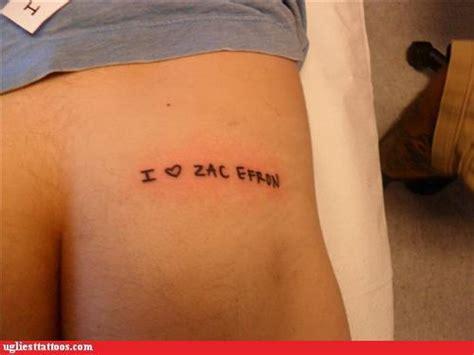 funny butt tattoos ugliest tattoos tats bad tattoos of horrible fail