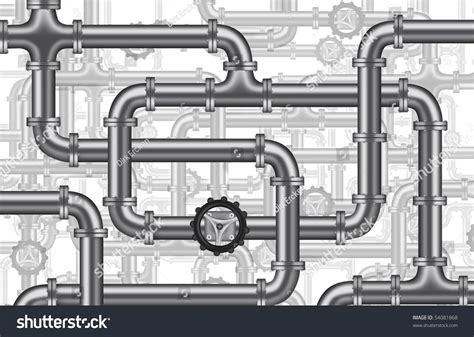 Dirks Plumbing by Plumbing Water Piping Pipelines Tubing Valve Stock Illustration 54081868