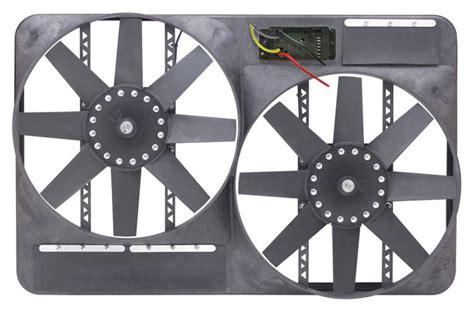 flex a lite adjustable electric fan controllers flex a lite automotive dual 13 1 2 inch electric fan
