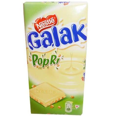 galak popri, white chocolate tablet with rice 100 gr