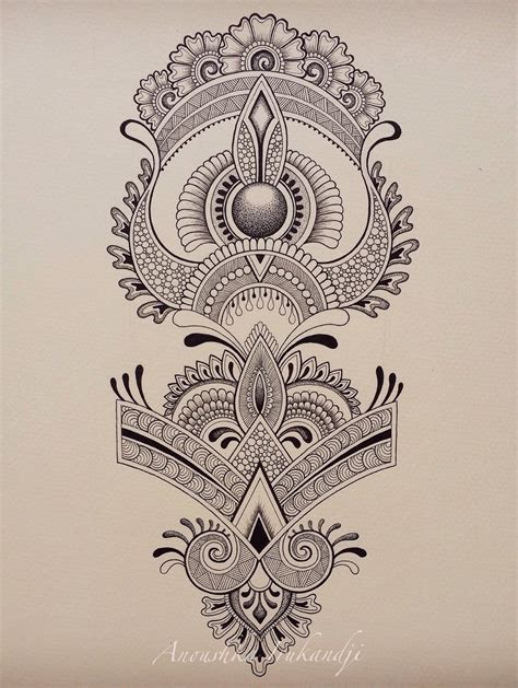 tattoo design drawings tumblr anoushka irukandji henna design for shin or forearm