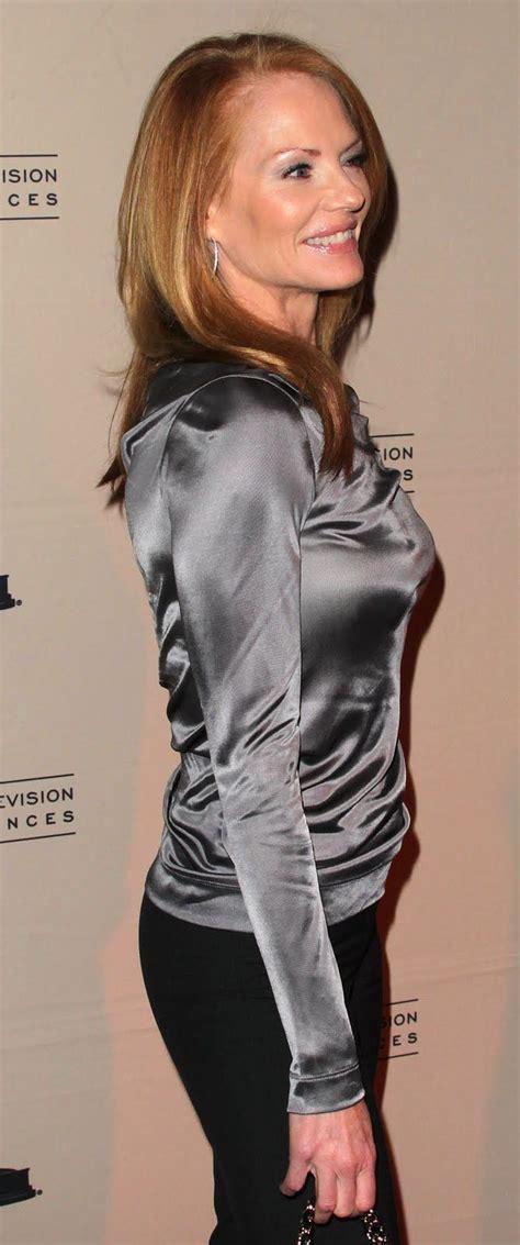 H Heidi Blouse satin blouse tight marg helgenberger silver satin