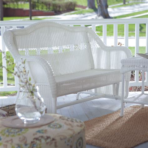 white resin outdoor benches white resin wicker outdoor 2 seat loveseat glider bench