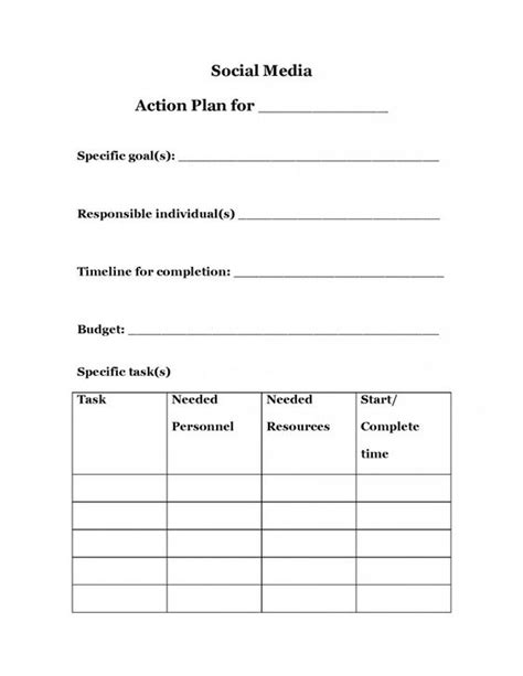 strategic planning plan template search