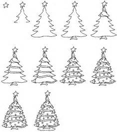 how to draw a simple christmas tree step by step christmas