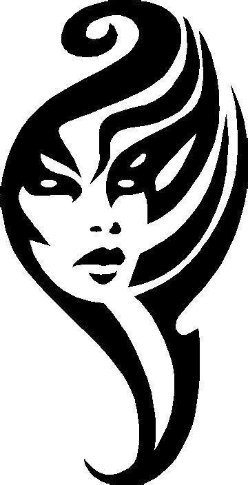 Sticker Gambar Tribal by Flames Decals Tribals Decals Woman S Face Tribal