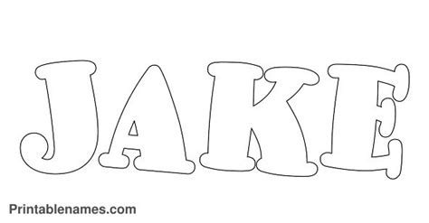5 best images of jake printable letter printable names