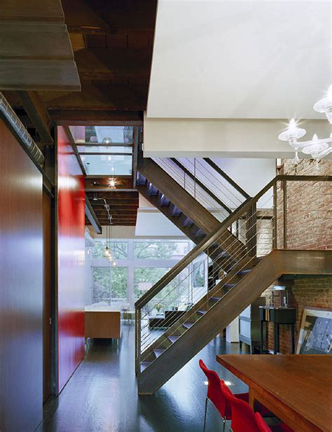 carroll gardens townhouse gets modern update with glass metal and a floating staircase 6sqft