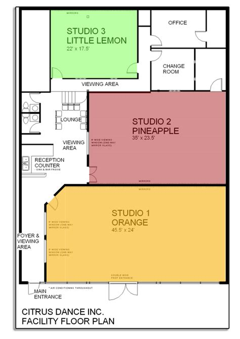 Dance Studio Floor Plan | dance studio floor plans joy studio design gallery