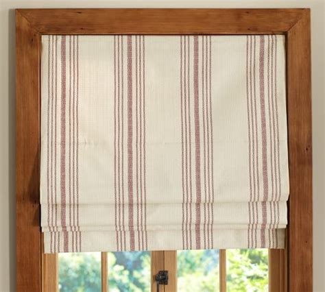 roman shades and drapes french stripe roman shade traditional curtains by