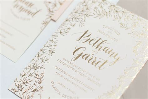 wedding invitations gold foil foil wedding invitations gangcraft net