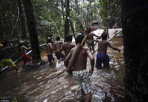 film petualangan di alam hunting with the munduruku warriors daily mail online