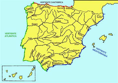los rios de espana mapa mudo de espa 241 a para poner los rios