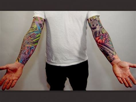 colorful tattoo sleeves for men colorful sleeve tattoos for tattoos for