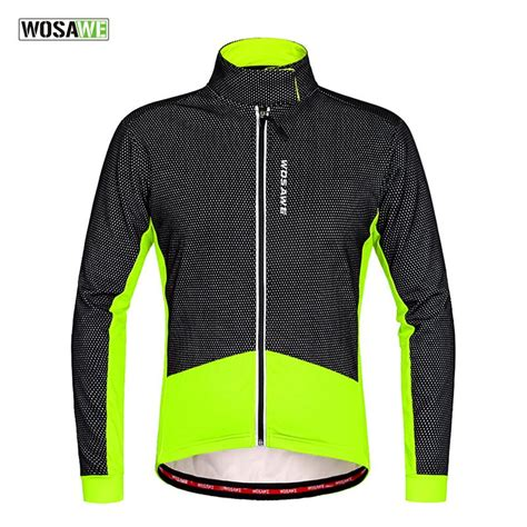 shell winter cycling jacket wosawe thermal cycling jacket winter warm bicycle clothing