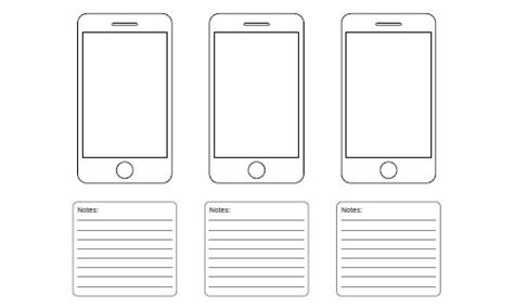 iphone app wireframe template free ui and web design wireframing kits resources and