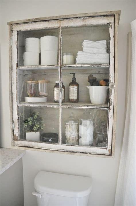 Good Small Bathroom Shelves White #3: 17-shabby-chic-niche-glass-bathroom-cabinet.jpg