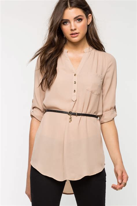 Tunic Clara by S Blouses Clara Belted Tunic A Gaci